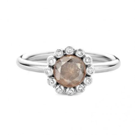 R&C R&C NOUS Ring Rose Di 14k witgoud met 0.61ct natuurlijke diamant RNOUS08DIWG