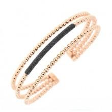 Pesavento PESAVENTO Armband zilver roséverguld met zwarte emaille WPLVB845