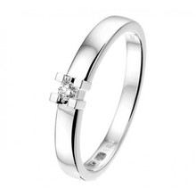 R&C R&C Ring 14k witgoud met 0.10ct H/Si diamant RIN0930-0.10-SIH-WG