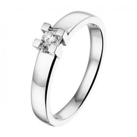 R&C R&C Ring 14k witgoud met 0.15ct H/Si diamant RIN0930-0.15-SIH-WG