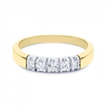 R&C R&C Ring Carole 14k Geelgoud met 0.45ct P/W diamant RIN1709-5-PW-GW