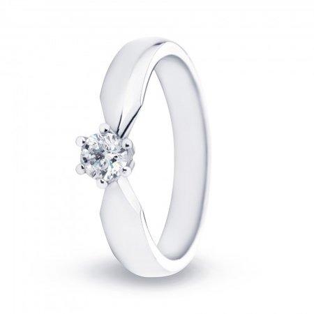 R&C R&C Ring Elise 14k witgoud met 0.19ct R/Si diamant RIN0083L-0.19-SR-WG