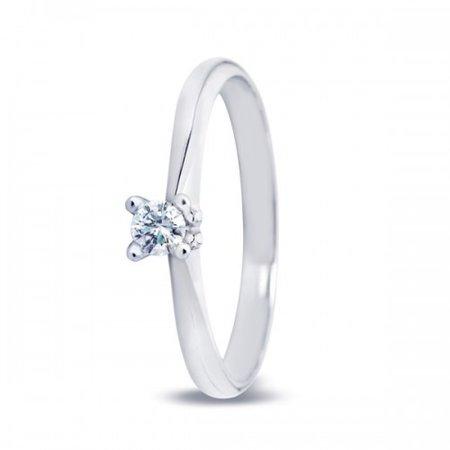 R&C R&C Ring Lila witgoud 14k diamant RIN0084 0.10ct P/W