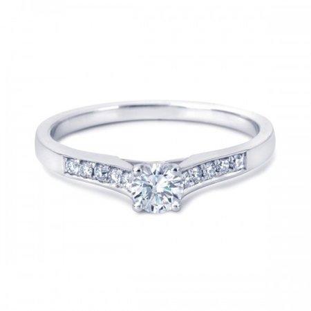 R&C R&C Ring Marise Riche 14krt witgoud met briljant 0,25crt si/river pavé10/0,10crt RIN2120-SIR025