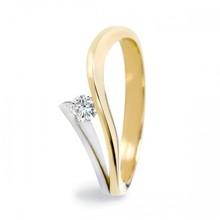 R&C R&C Ring Victoire 14k geel-witgoud met 0.18ct R/Si diamant RIN0038GW-0.18SIR