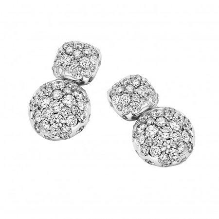 ROOS 1835 ROOS 1835 oorhangers 18k roségoud met 1.98 ct diamant 106AE198