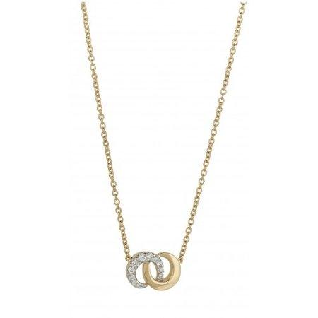 Mrs.Janssen MRS.Janssen Collier geelgoud 14k met diamant 0.06ct HSI CP416055