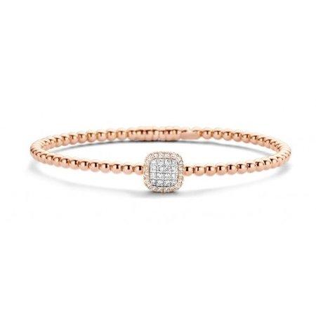 Tirisi Moda TIRISI Armband Amsterdam 18k roségoud met 0.35ct diamant TB2076D(2P)