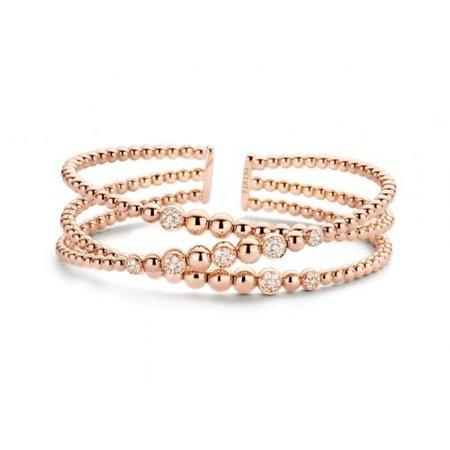 Tirisi Moda TIRISI Armband Amsterdam 18k roségoud met 0.57ct diamant TB2073DP