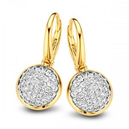 Tirisi Moda TIRISI Oorhangers 18k geelgoud  met 0.65ct diamant TE70708D 2T