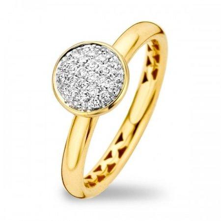 Tirisi Moda TIRISI Ring 18k Geelgoud met 0.24ct diamant TR1117D(2T)