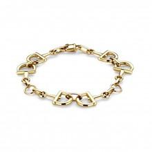 HuisCollectie HuisCollectie Armband 14k geelgoud horsebit 9598