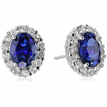 HuisCollectie Huiscollectie blauw saffier Oostekers diamant 0.21HSI 14k witgoud 603568