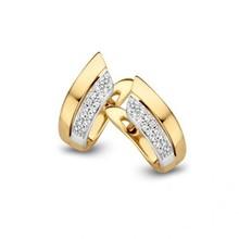 HuisCollectie HuisCollectie Creolen 14k geelgoud met diamant 0.10crt 604212