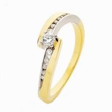 HuisCollectie HuisCollectie Ring 14k bicolor met 0.21 crt diamant 707030601