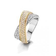 HuisCollectie HuisCollectie Ring 14k geel- witgoud met 0.75ct diamant 23731
