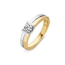 HuisCollectie HuisCollectie Ring 14k geel- witgoud met diamant 0.40crt 604214