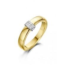 HuisCollectie HuisCollectie Ring 14k geelgoud met diamant 0.09ct H/Si 25854