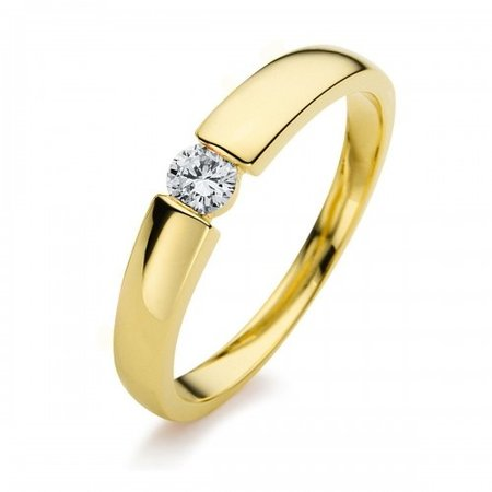 HuisCollectie HuisCollectie Ring 14k geelgoud met diamant 0.20crt G/Si 605326
