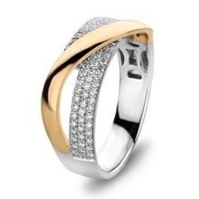HuisCollectie HuisCollectie Ring 14k geelgoud met diamant totaal 0.37ct H/Si 24704