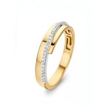 HuisCollectie HuisCollectie Ring 14k geelgoud met diamanten 0.09crt H/SI 602334