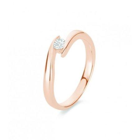HuisCollectie HuisCollectie Ring 14k roségoud met diamant 0.12crt G/Si 605316