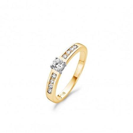 Blush Blush ring 14k geelgoud met zirkonia 1125BZI