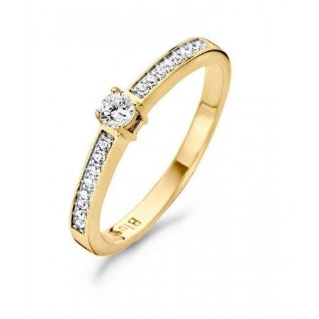 Blush Blush ring 14k geelgoud met zirkonia 2mm 1145BZI