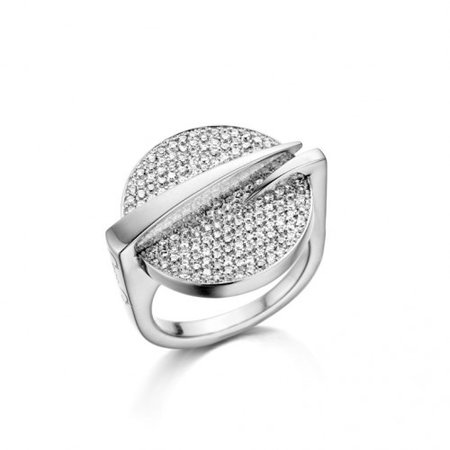 HuisCollectie HuisCollectie Ring Points 18k witgoud met 1.12ct G/Vsi diamant