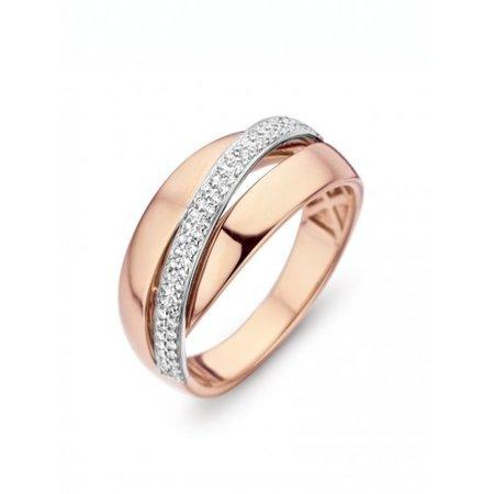 HuisCollectie HuisCollectie Ring Roségoud 14k diamant 0.22crt RP316259
