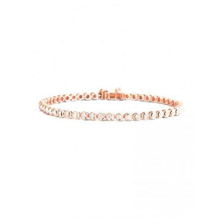 HuisCollectie HuisCollectie Tennisarmband 14k roségoud met 1.12ct Diamant H/SiSi