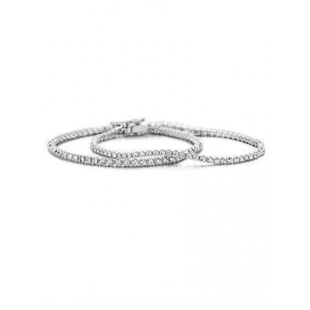 HuisCollectie HuisCollectie Tennisarmband 14k witgoud met 3.01ct Diamant H/Si