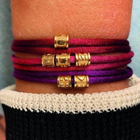 Minitials Minitials Benji Bead Bracelet | 18CT GOLD