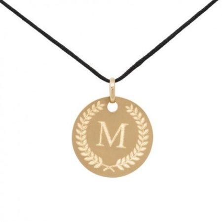 Minitials Minitials Olive Branch Initial Token | 18CT GOLD