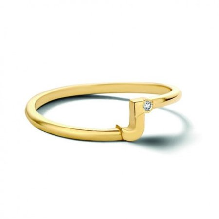 Minitials Minitials One Blend Initial Entangle Ring | 18CT GOLD