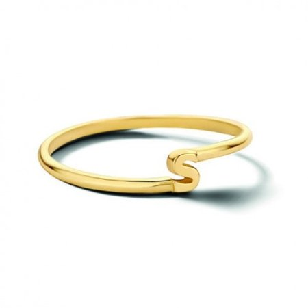 Minitials Minitials One Initial Entangle Ring | 18CT GOLD