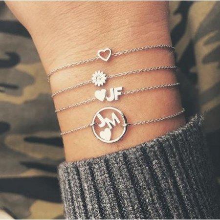 Minitials Minitials Symbol Chain Bracelet   18CT GOLD