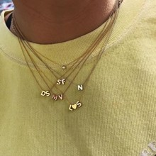 Minitials Minitials Two Initial Symbol Necklace | 18CT GOLD