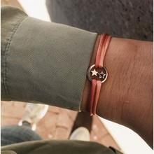 Minitials Minitials Two Symbol Satin Bracelet | 18CT GOLD