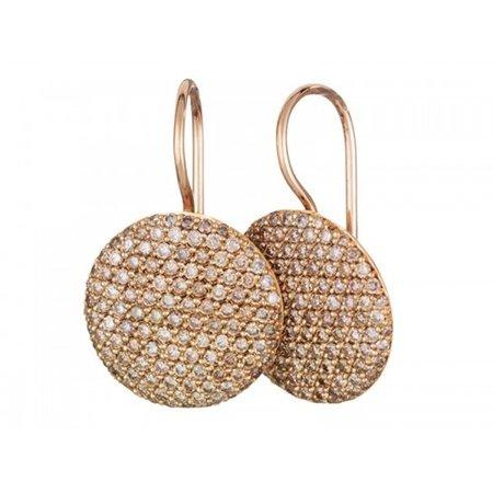 Bron BRON Oorhangers Stardust 18k Roségoud met 1.85ct champagne diamant 8OR4782CBR