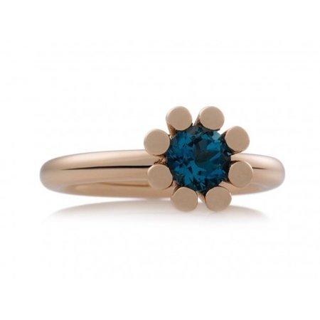 Bron BRON Ring Sprite Roségoud 18k met London Blue Topaas 8RR4849TL