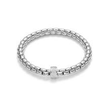 Fope FOPE Armband Flex-It EKA 18k witgoud met 0.53ct diamant 704B PAVE