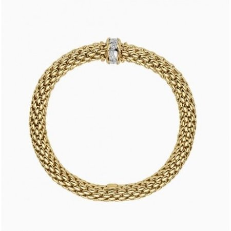 Fope FOPE Armband Flex-It Love Nest 18ct geelgoud 0.12ct 454B BBRM