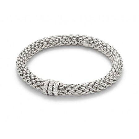 Fope Fope Armband Flex-It love nest 18k witgoud met 0.57ct diamant 451PAVE W M