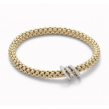 Fope FOPE Armband Flex-It Solo 0.26ct 18k geelgoud 652BPAVE G M