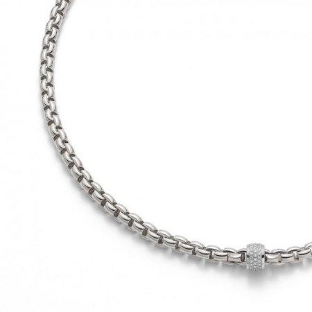 Fope FOPE Collier EKA 18k witgoud met 0.53 ct diamant 704C PAVE W