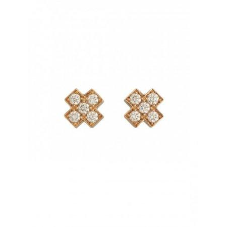 Bron BRON Oorknoppen Joy 18k Roségoud met 0.20ct diamant G/VVS 8OR4805BR