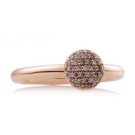 Bron BRON Ring Stardust 18k Roségoud met 0.27ct champagne diamant 8RR4717CBR