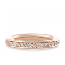 Bron BRON Ring stax 3.3mm 14k Roségoud wit diamant 0.35ctGVsi 6RR4610BR