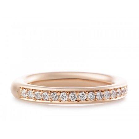 Bron BRON Ring stax 3.3mm 18k Roségoud wit diamant 0.35ctGVsi 6RR4610BR